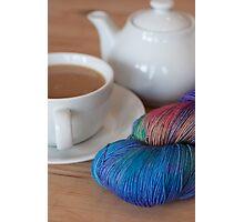 Tea and Yarn Photographic Print