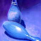 Blue Study by Marsha Hallet