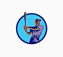 Baseball Batter Batting Bat Circle Woodcut Unisex T-Shirt