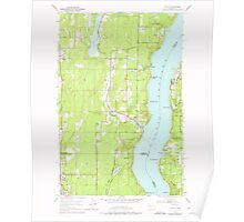 USGS Topo Map Washington State WA Olalla 242923 1953 24000 Poster