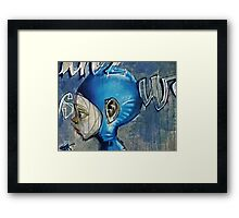 Feeling blue? Framed Print