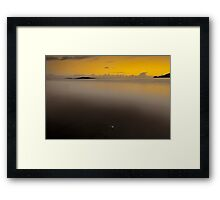 White Stone-West Cork Ireland Framed Print