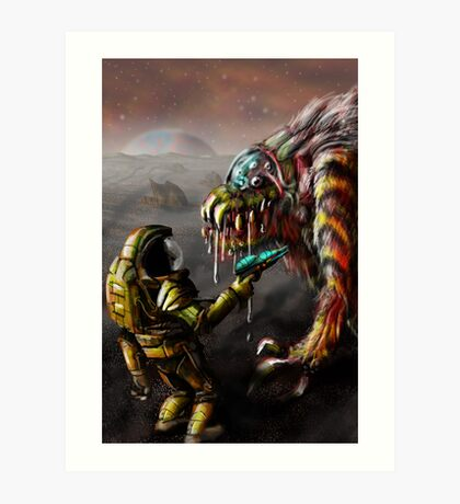 The Blunderbeast and the Spaceman Art Print