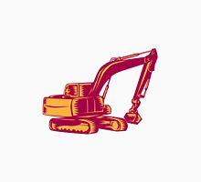Mechanical Digger Excavator Woodcut Unisex T-Shirt