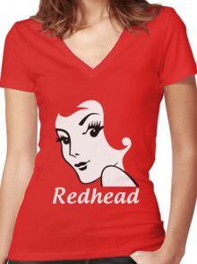 Miss Redhead (text) [iPhone / iPad / iPod case | Tshirt | Print] Women's Fitted V-Neck T-Shirt