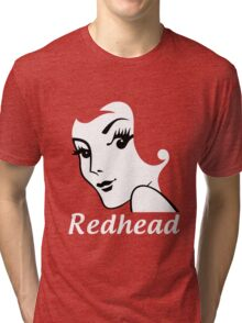 Miss Redhead (text) [iPhone / iPad / iPod case | Tshirt | Print] Tri-blend T-Shirt
