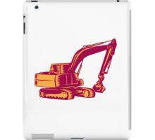 Mechanical Digger Excavator Woodcut iPad Case/Skin