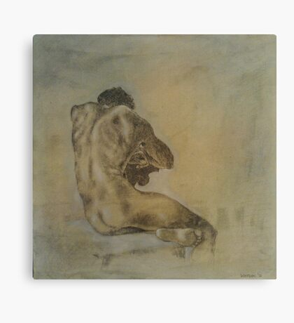 Seated Nude 3 Canvas Print