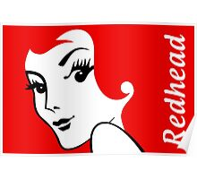 Miss Redhead (text) [iPhone / iPad / iPod case | Tshirt | Print] Poster
