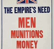 The Empires need Men munitions money Which are you supplying by wetdryvac