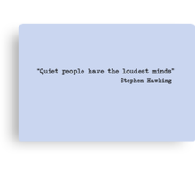 Quiet People Canvas Print
