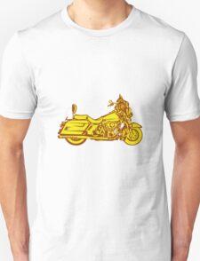 Motorcycle Motorbike Woodcut T-Shirt