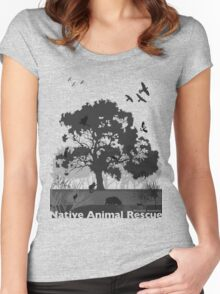 Support Native Animal Rescue Women's Fitted Scoop T-Shirt