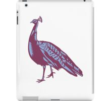 Male Indian Peacock Woodcut iPad Case/Skin