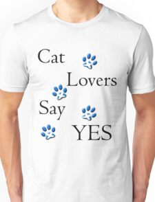Cat Lovers Say Yes Scotland Unisex T-Shirt