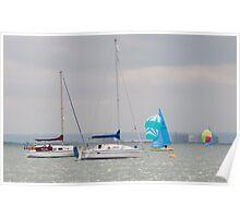 Boats at Thorpe Bay Poster