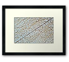 Rusty metal surface to use as a background Framed Print