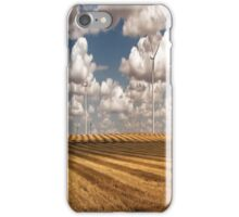 Wind Turbines on a Checkerboard Landscape iPhone Case/Skin
