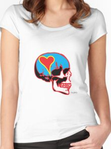 Skull_15 is part of a series on Love Never Dies... Women's Fitted Scoop T-Shirt