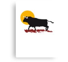 bull and sun Canvas Print