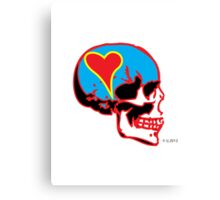 Skull_15 is part of a series on Love Never Dies... Canvas Print
