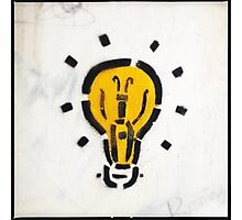 Bright Ideas Stencil Graffiti Photographic Print