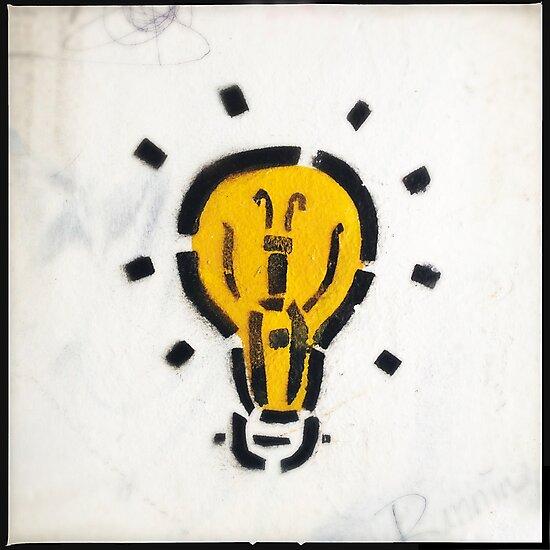 Bright Ideas Stencil Graffiti by eyeshoot