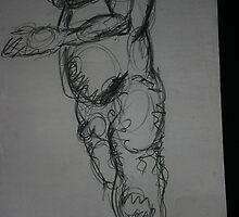 Figure with Swirls by kmazzei