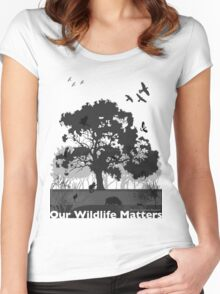 Our Wildlife Matters - Support Native Animal Rescue Women's Fitted Scoop T-Shirt