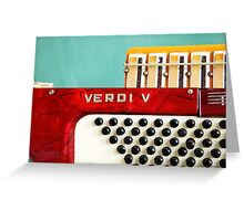 Red Verdi V Greeting Card