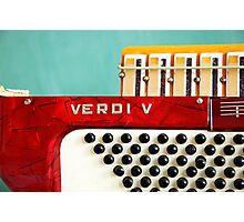 Red Verdi V Photographic Print