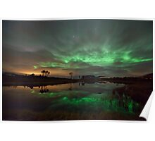 Auroras by the pond Poster