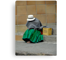 Covered In Poverty Canvas Print