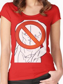 banned - nipple to chin Women's Fitted Scoop T-Shirt