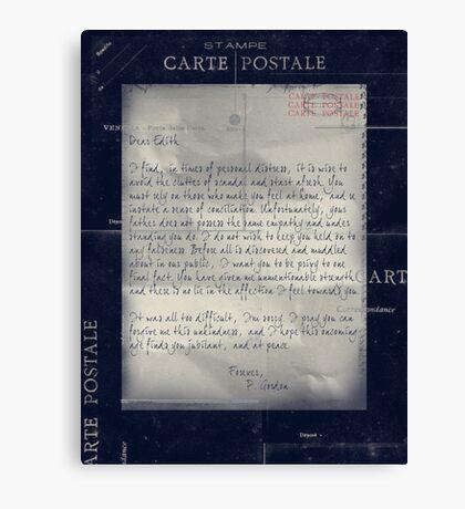 Dear Edith Crawley Canvas Print