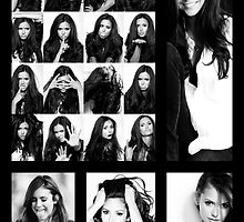 Nina Dobrev in Black and White by KangarooZach41