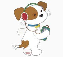 Cute Puppy Headphones Kids Clothes