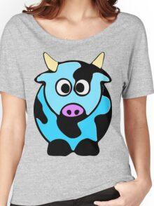 ღ°㋡Cute Baby Blue Cow Clothing & Stickers㋡ღ° Women's Relaxed Fit T-Shirt