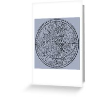 Vintage Astronomy Chart. Greeting Card