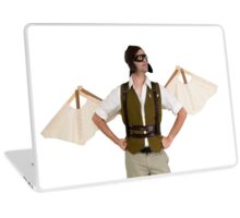 steampunk man with wings  Laptop Skin