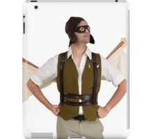 steampunk man with wings  iPad Case/Skin