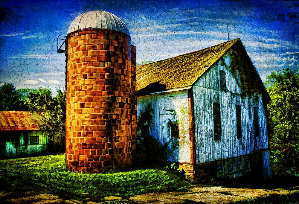 Vintage Silo by Trudy Wilkerson