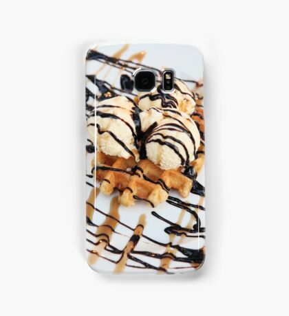 Waffle with ice cream  Samsung Galaxy Case/Skin