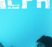 Alpha drowning (text) Sticker