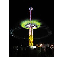 County Fair Night Ride Photographic Print