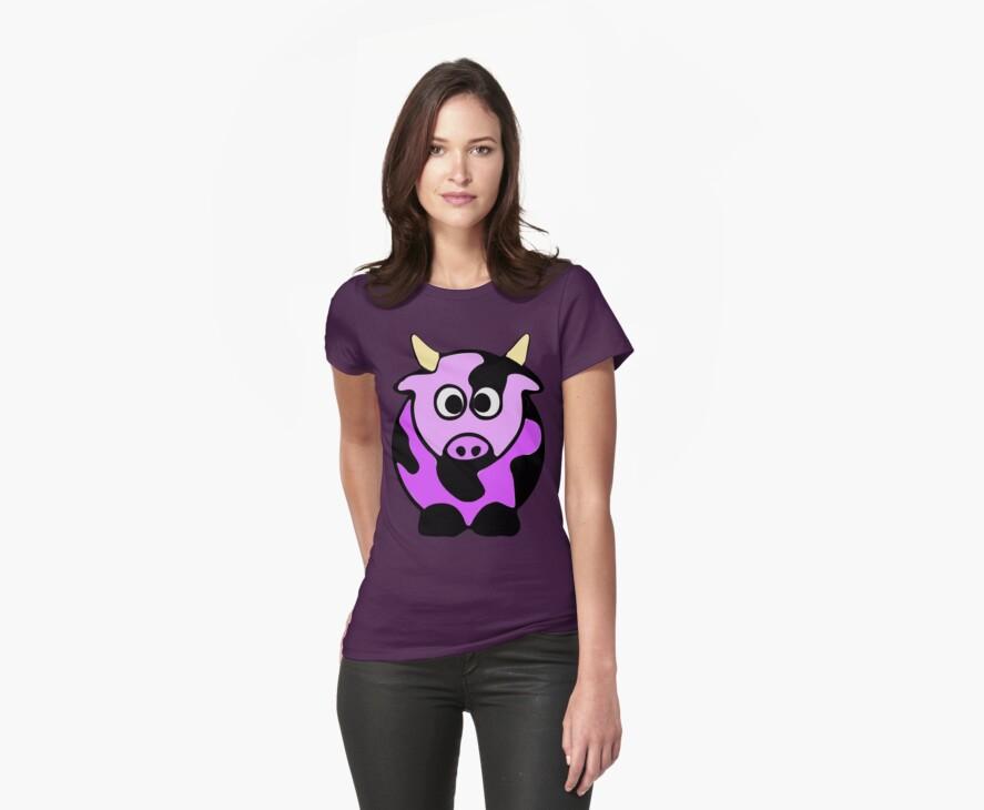 ღ°㋡Cute Lavender Colored Cow Clothing & Stickers㋡ღ° by Fantabulous