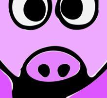 ღ°㋡Cute Lavender Colored Cow Clothing & Stickers㋡ღ° Sticker