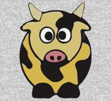 ღ°㋡Cute Brindled Golden Cow Clothing & Stickers㋡ღ° One Piece - Long Sleeve