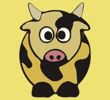 ღ°㋡Cute Brindled Golden Cow Clothing & Stickers㋡ღ° Kids Clothes
