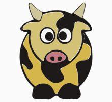 ღ°㋡Cute Brindled Golden Cow Clothing & Stickers㋡ღ° Kids Tee